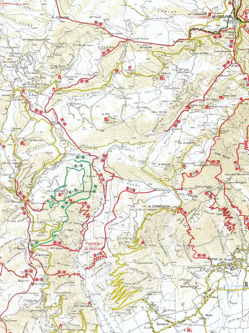 Mappa sentieri Valle Santa Felicita